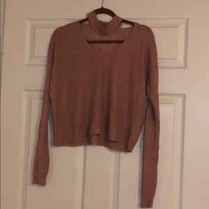 Charlotte Russe Choker Neck Sweater